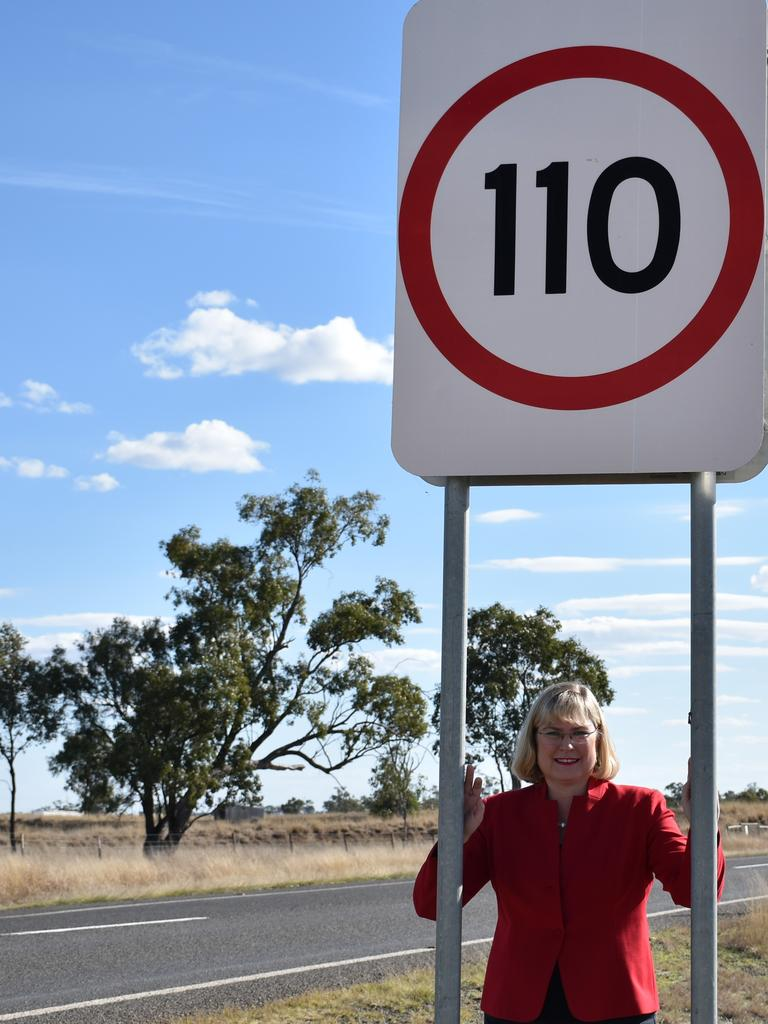 MP Ann Leahy said the LNP will reinstate the 110kmh limit between Surat and St George if the LNP is elected this year.
