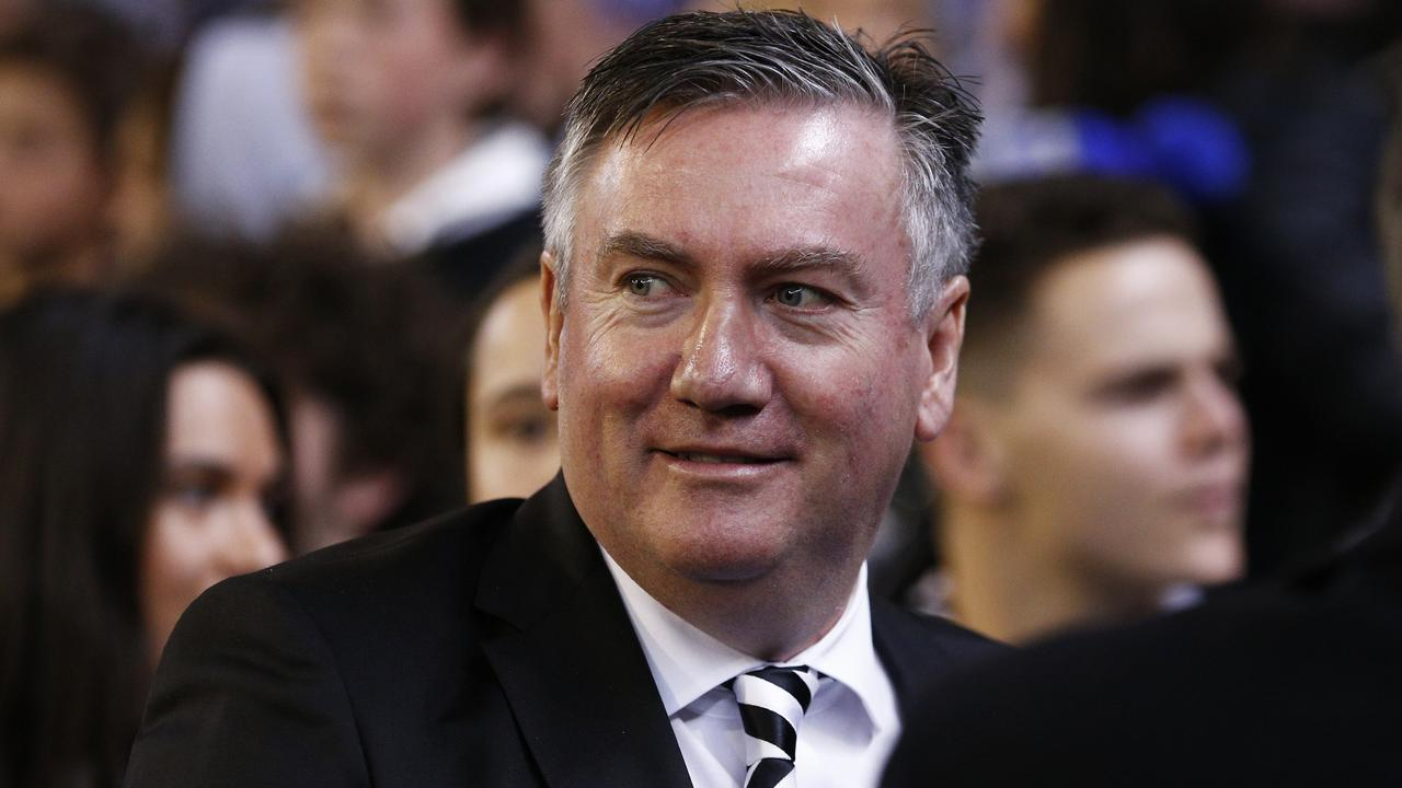 Magpies president Eddie McGuire has angered viewers of Adam Goodes' documentary, by defending Sam Newman. Picture: AAP