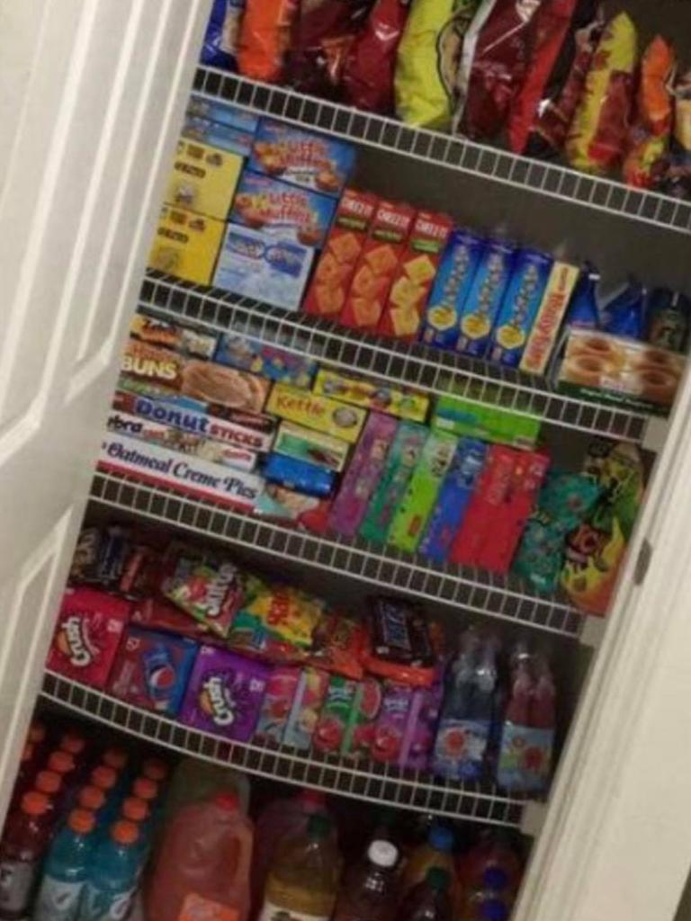 This is a photo of one of Jemma Reed's fully stocked pantries. Picture: Jemma Reed/Supplied