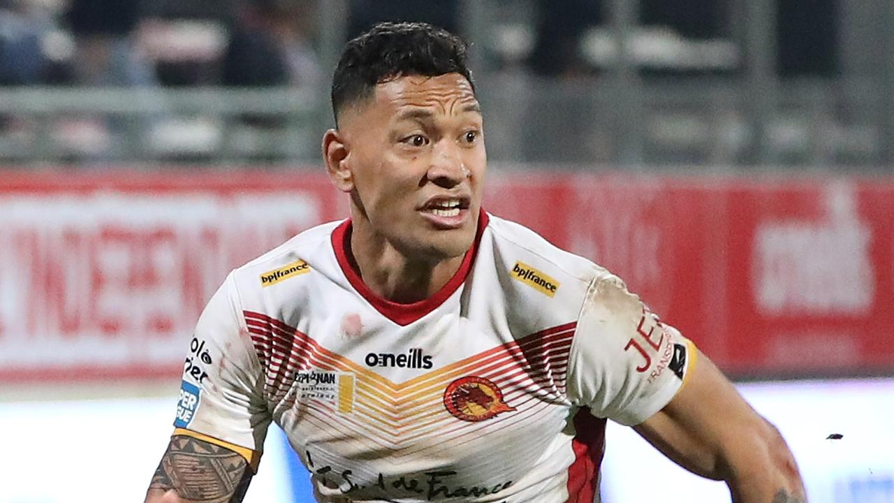 Israel Folau is now playing rugby league in France. Picture: Ella Pellegrini