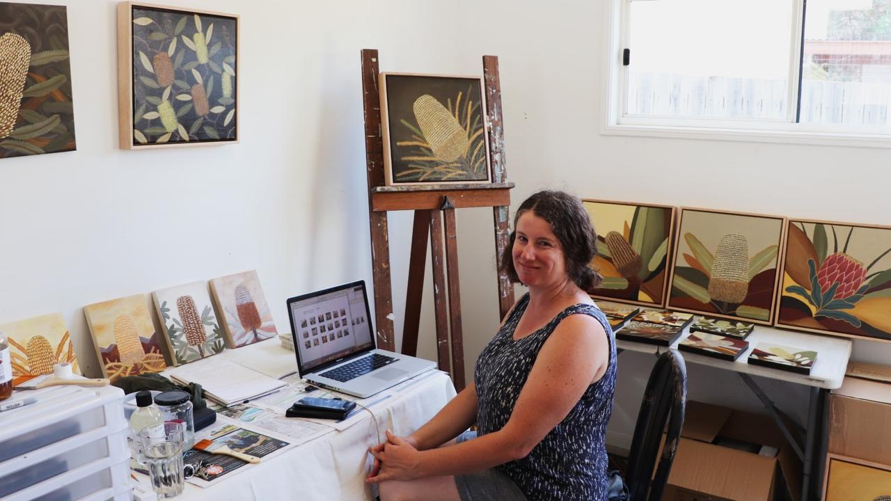 Judy Oakenfull in her studio in Murwillumbah, 2020. PHOTO: Tweed Shire Council