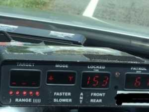 WATCH: Motorcyclist clocked doing 153km/h banned from road