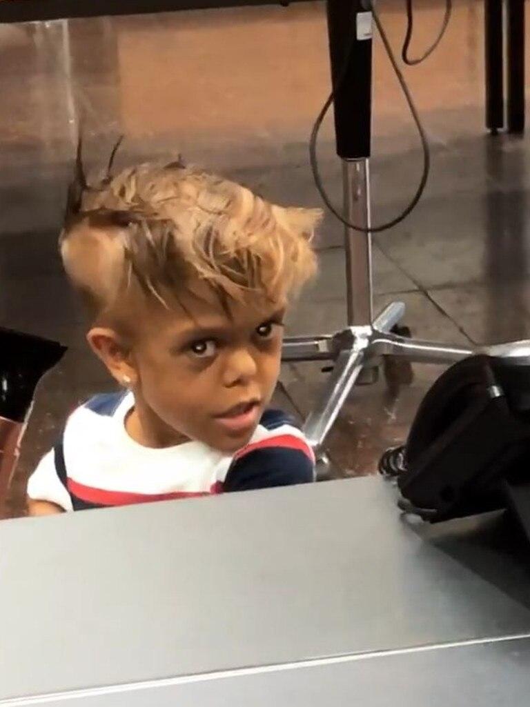 .... including visiting a hairdresser. Picture: Instagram / Guyala Bayles