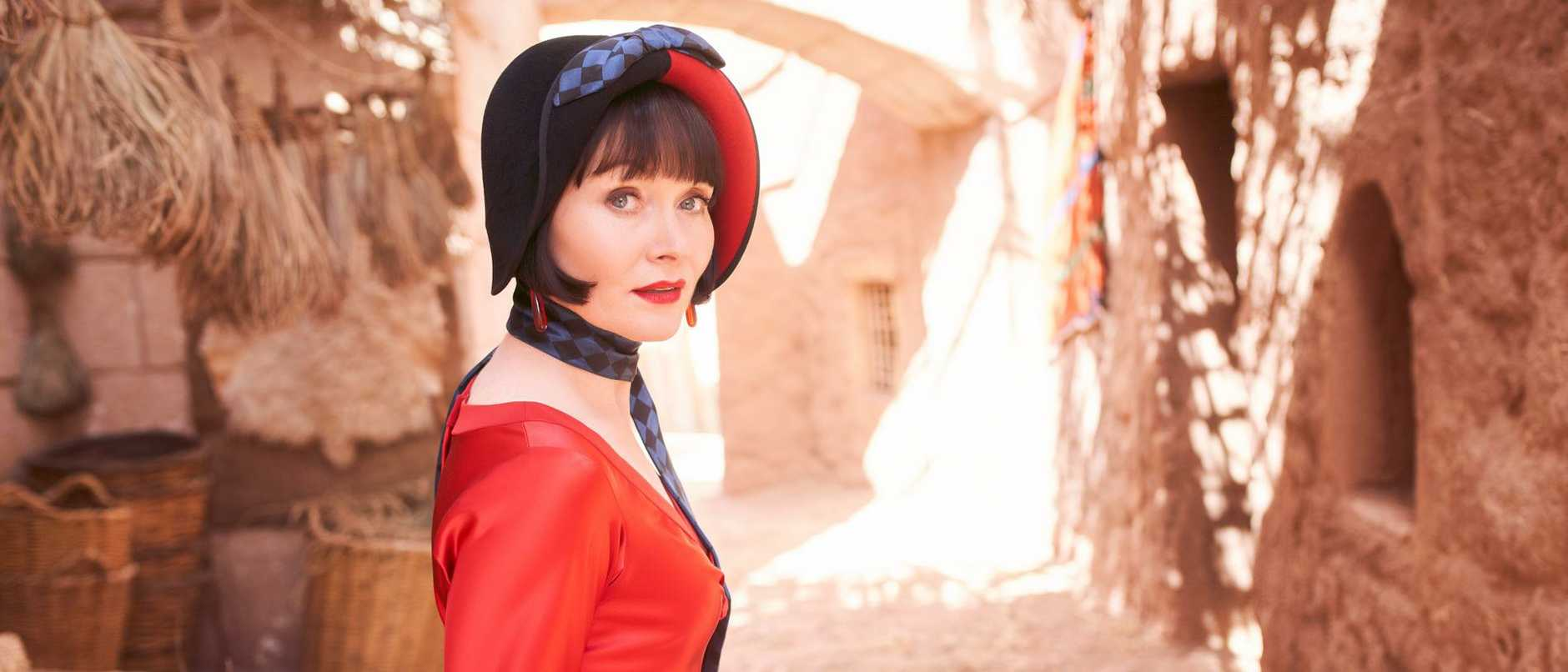 Essie Davis returns as Phryne Fisher in Miss Fisher and The Crypt of Tears.
