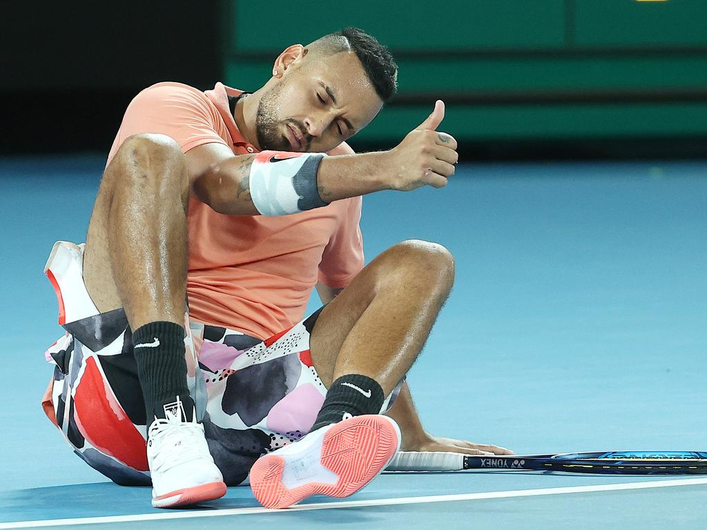 Kyrgios says he's taking aim at the tournaments, not the man.