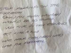 Parking note to 'stupid' driver angers