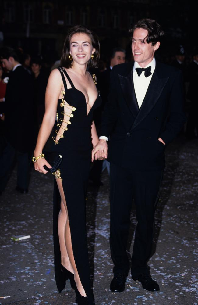 Elizabeth Hurley and Hugh Grant in 1994 Picture: Tim Rooke/REX/Shutterstock