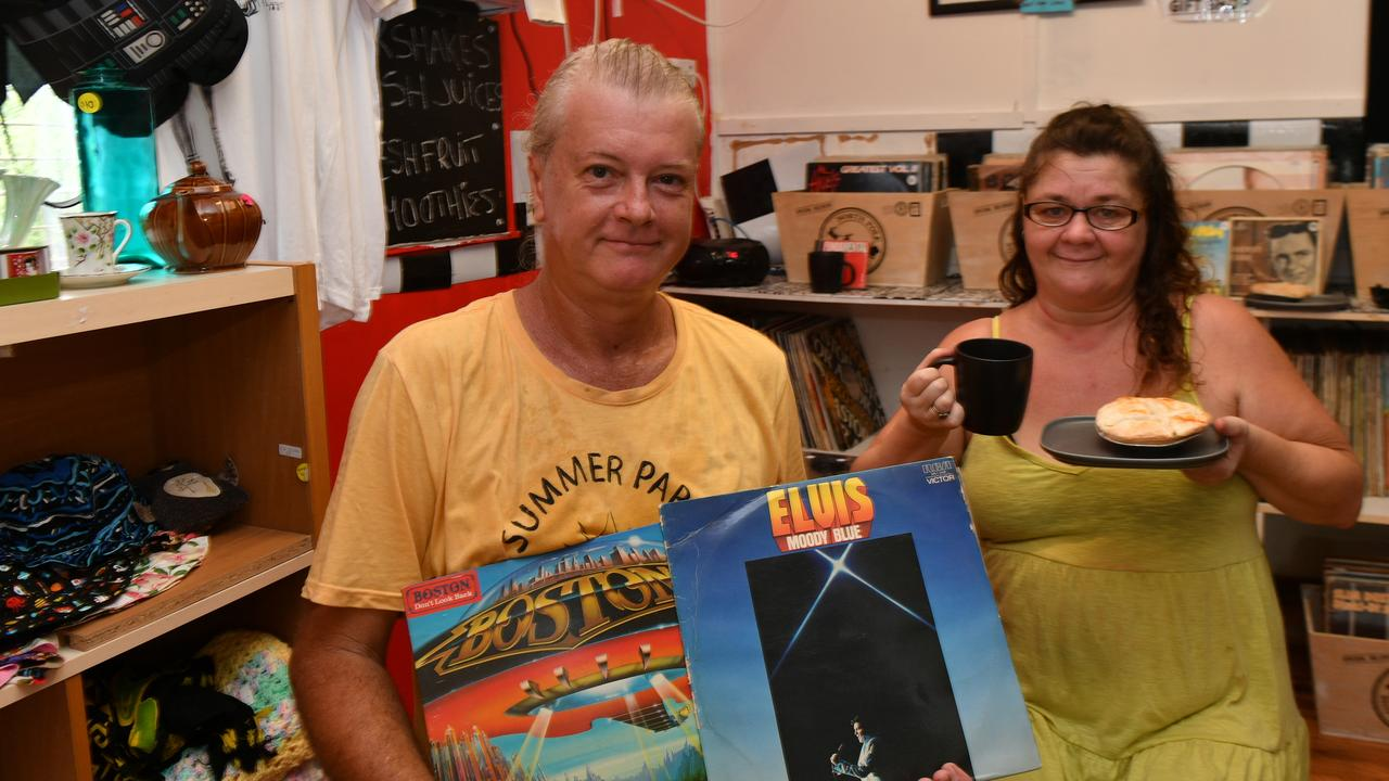 Scott Collins and Narelle Towells at their new business the Big Record Diner.