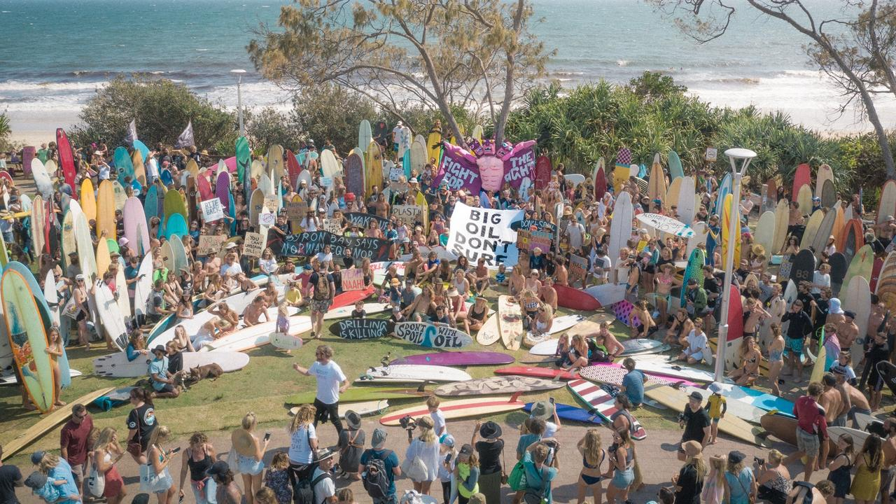 Surfers paddle out to save the Great Australia Bight.