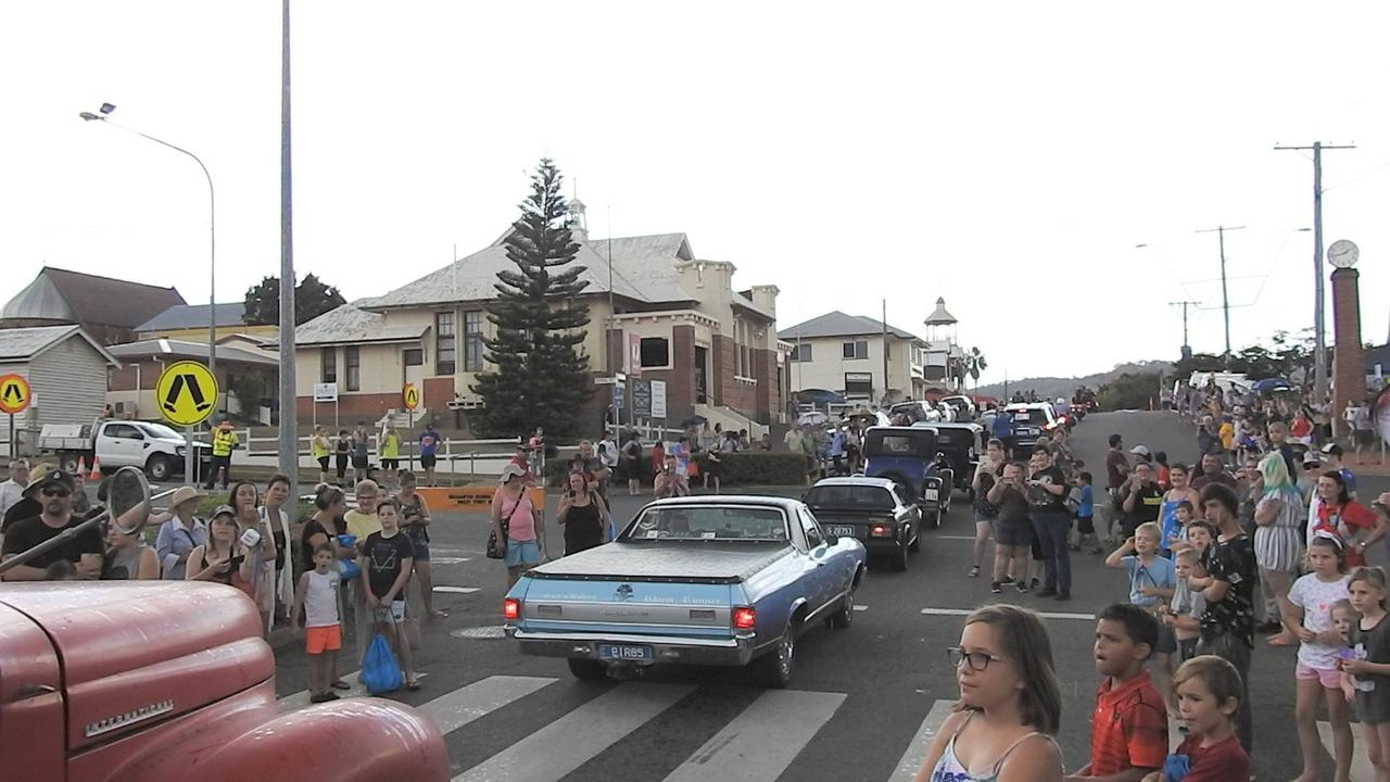 Saturday's procession on Morgan St in Mount Morgan during the Golden Mount Festival.
