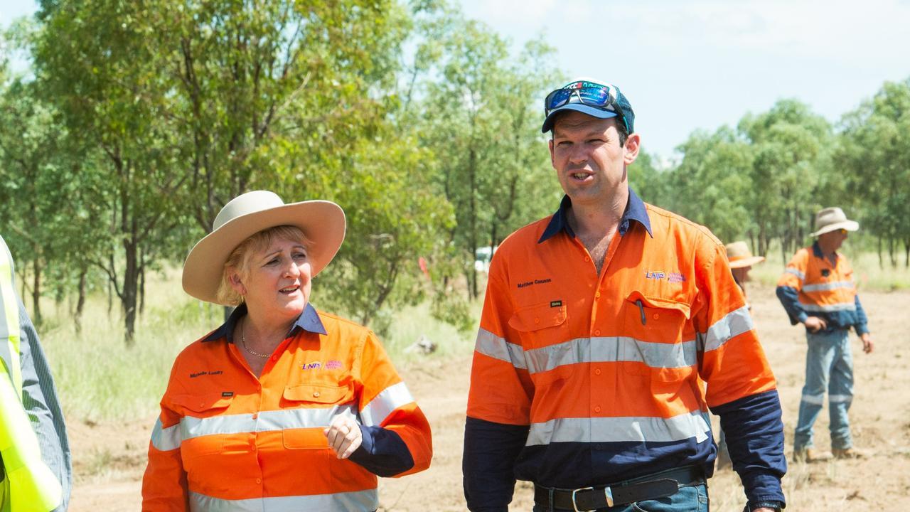Capricornia MP Michelle Landry and Senator Matt Canavan touring the Adani Carmichael Mine site.