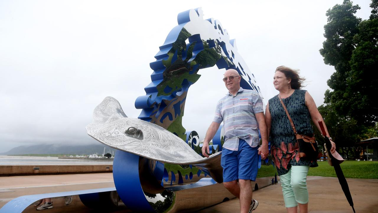 John and Jane Hudson from Birmingham, England taking in the sights around Cairns. PICTURE: STEWART McLEAN