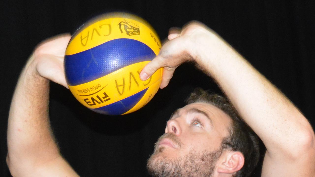 EYES ON THE BALL: Coach John Egerton is excited about the upcoming volleyball season in the GVA competition. PICTURE: Nick Kossatch