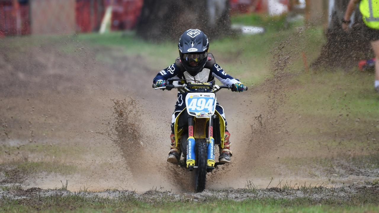 Logan Downing on track on Sunday.