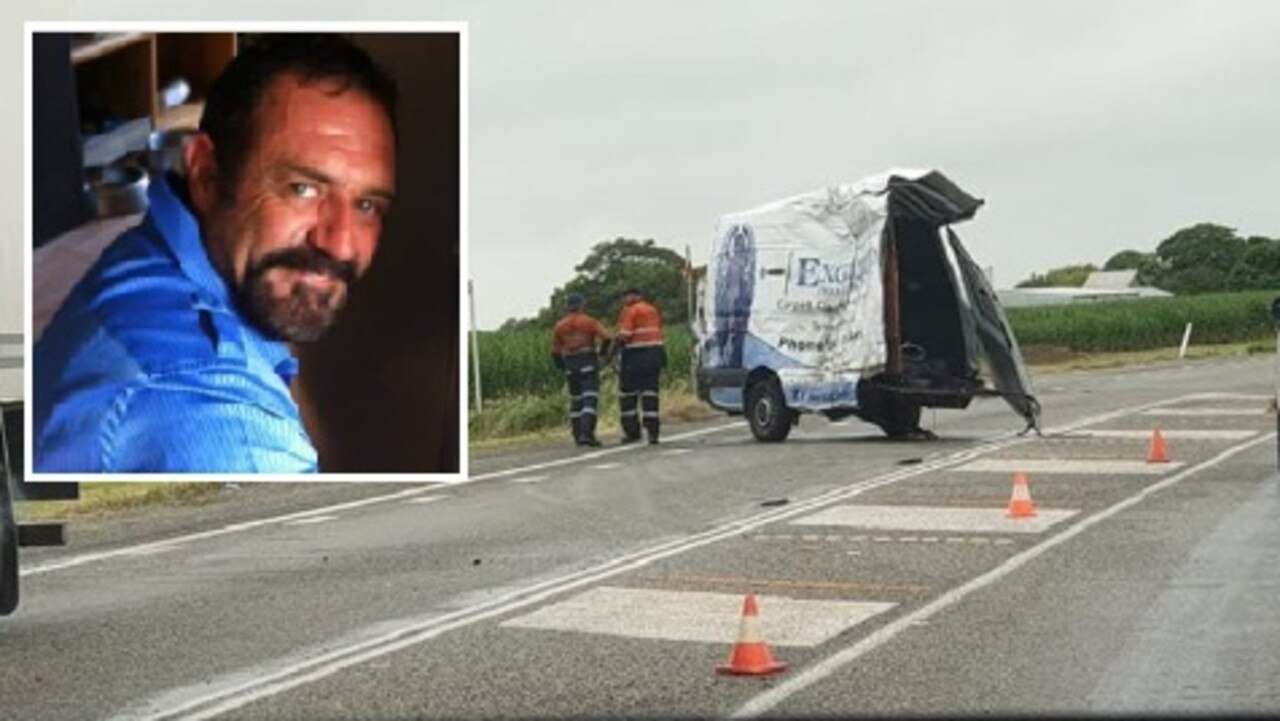 Mundingburra man John Van Stelten, 58, and Alice River man Mark Dunstan, 57, were killed instantly when a truck collided with their van on the Bruce Highway this morning. Kelso man Johannes Van Stelten, 37, is believed to be in a critical condition at Townsville University Hospital after being transferred from Mackay.