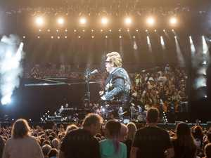 Elton John performs in Coffs