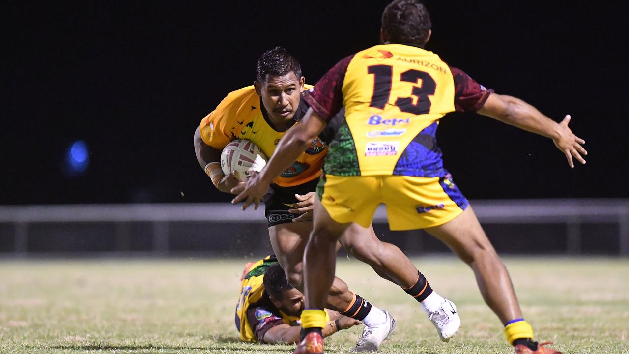 Former NRL player Ben Barba has been arrested and charged after an incident in a Mackay Pub.