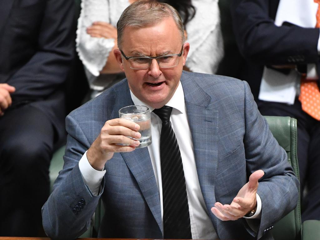 When asked today why Labor voted against a motion in the Senate to keep submarine jobs in South Australia, Anthony Albanese replied: 'Mate, I don't know …' Picture: AAP