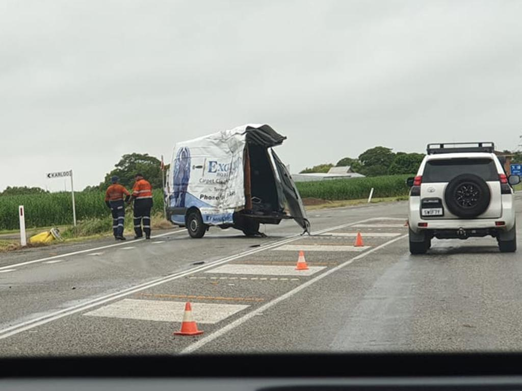 Two men died at the scene of a horror crash at Carmila. The crash was reported to emergency services just before 4am on Feb 25 2020. PICTURE: Kasey House