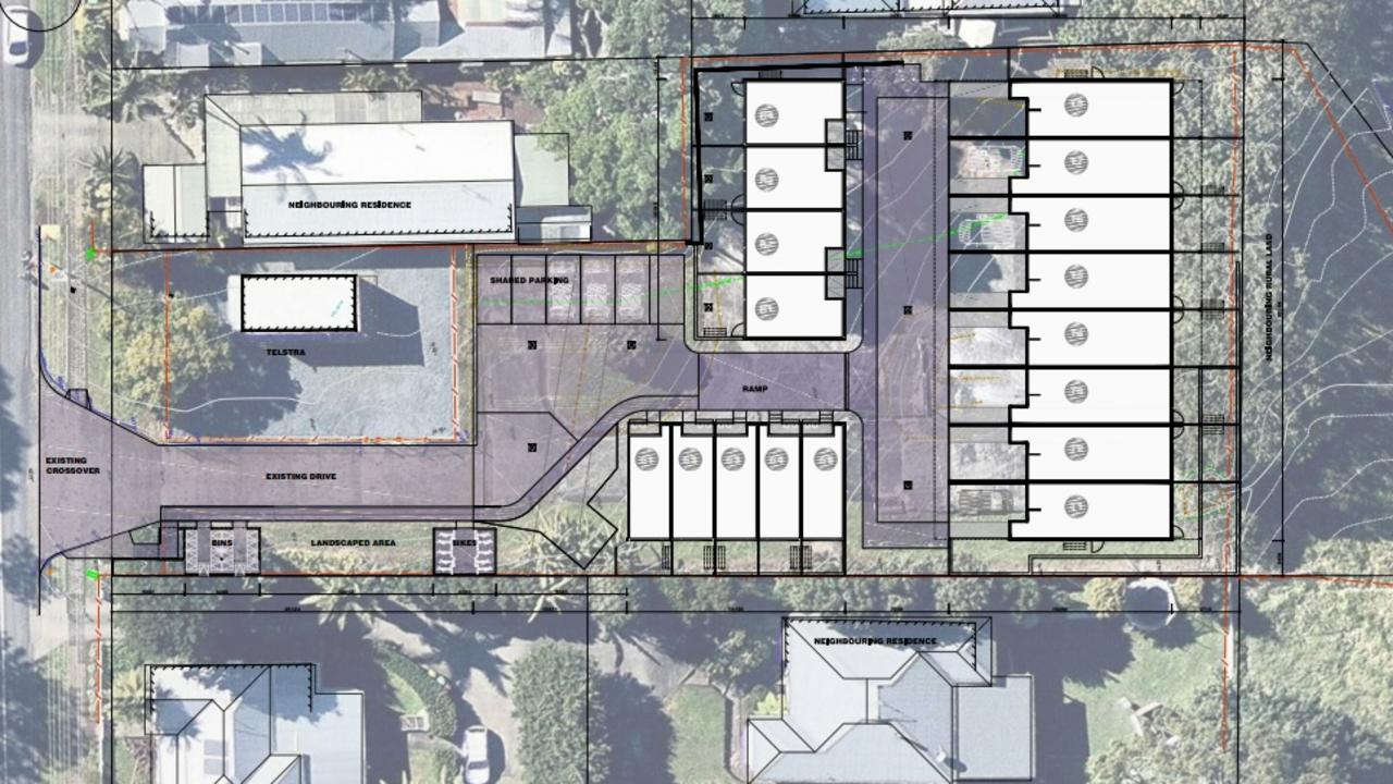 An artist's impression of the Kollective unit development proposed for Bangalow.