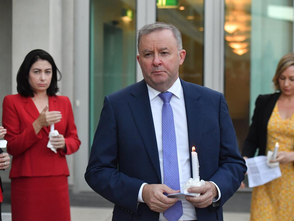 Leader of the Opposition Anthony Albanese said the horrific murders were a turning point. Picture: AAP