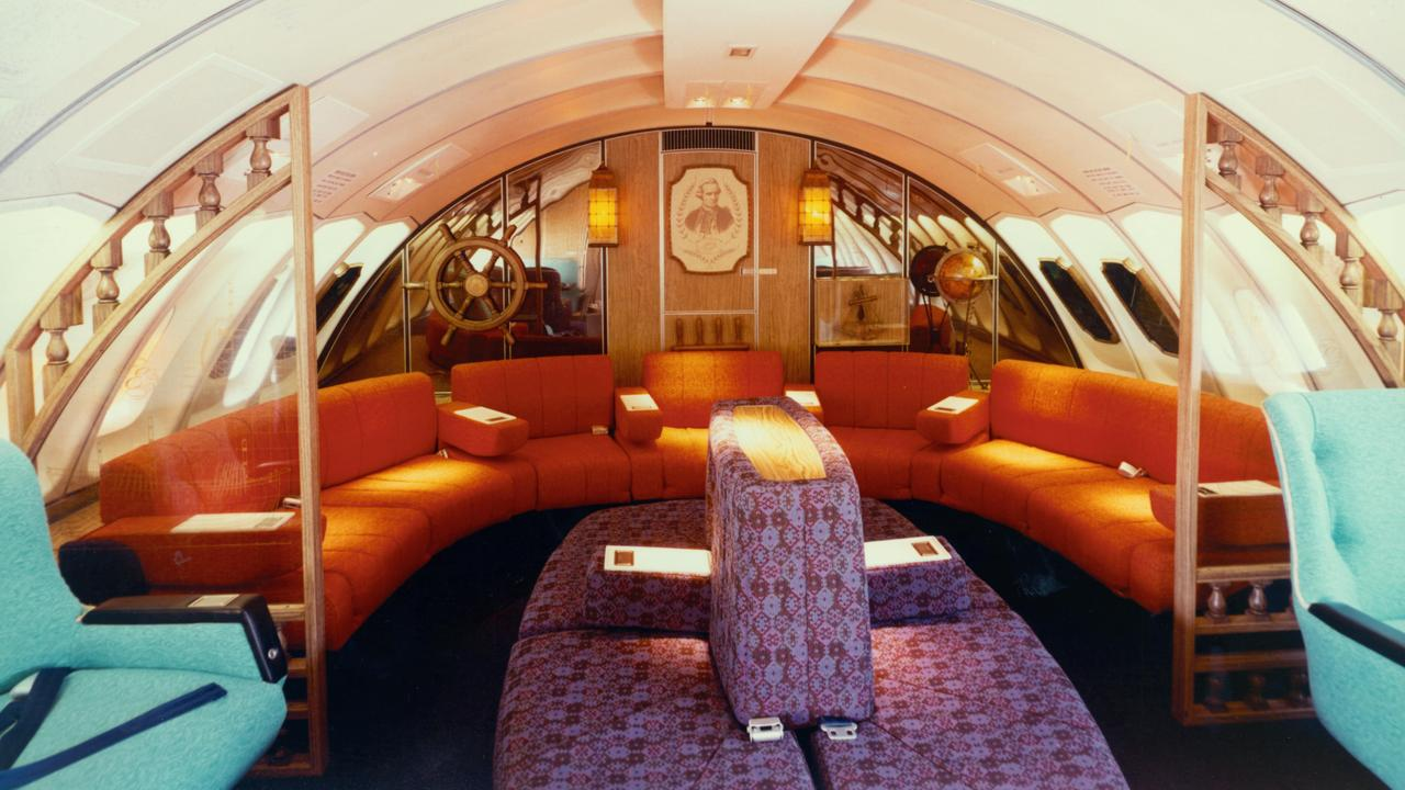 An actual photo from the 1970s business class section.