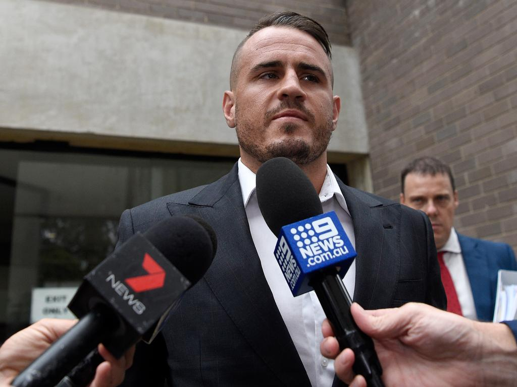 Wests Tigers NRL player Josh Reynolds leaves Sutherland Local Court in February