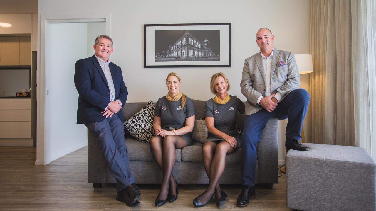 Cassidy Hospitality Group team Tony Cullen, Alyssa Tate and Rebecca and Grant Cassidy.