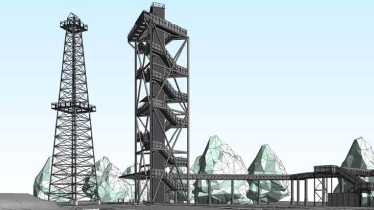 CONCEPT DESIGN: The Big Rig Observation Tower and Tree Walk.