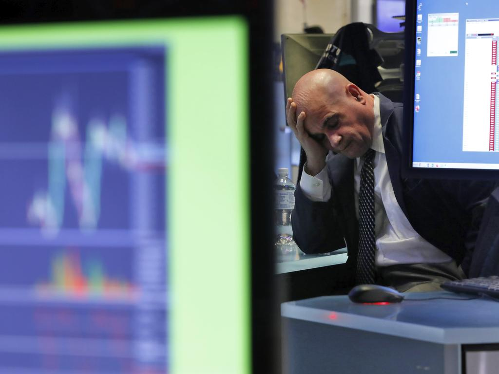 It's been a difficult week for specialists on the floor of the New York Stock Exchange. Picture: AP
