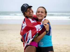 Teenage friends savour Noosa longboard final