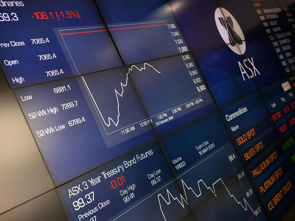 The market boards at the Australian Stock Exchange are set to show more dips. Picture: AAP