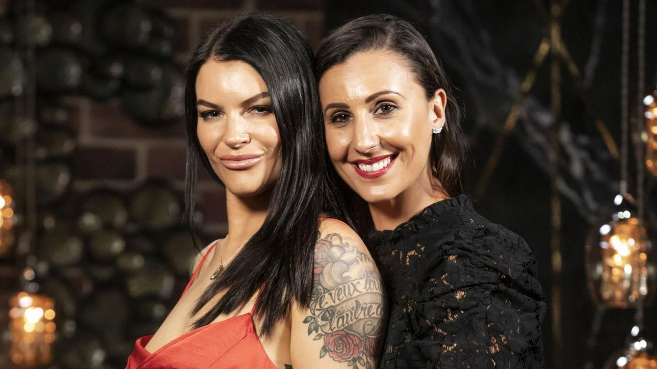 Tash and Amanda called it quits last week. Picture: Channel 9