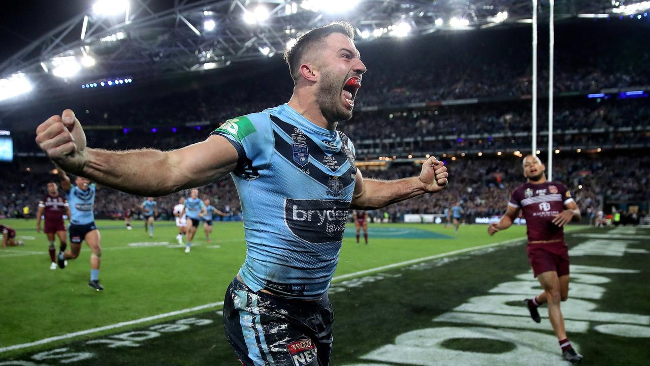 Scoring the winner in State of Origin – yep. Photo: Phil Hillyard