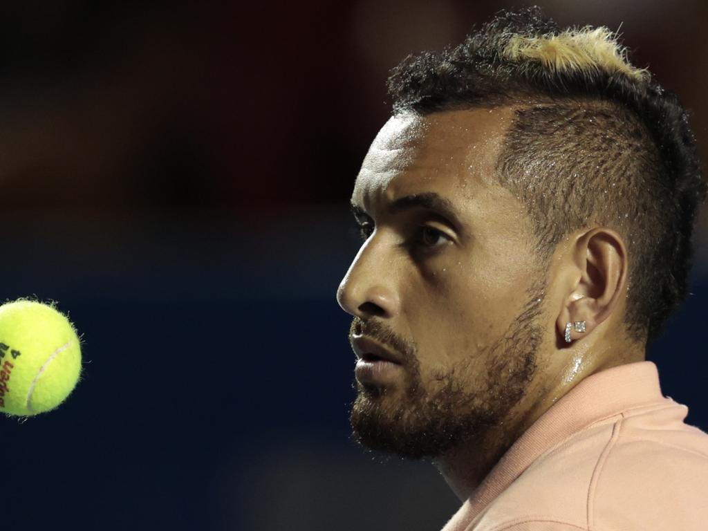 Australia's Nick Kyrgios is expected to drop 15 spots on the ATP rankings after his first round exit