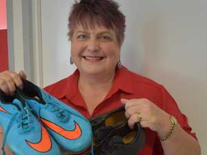 Lacing up old boots for great cause
