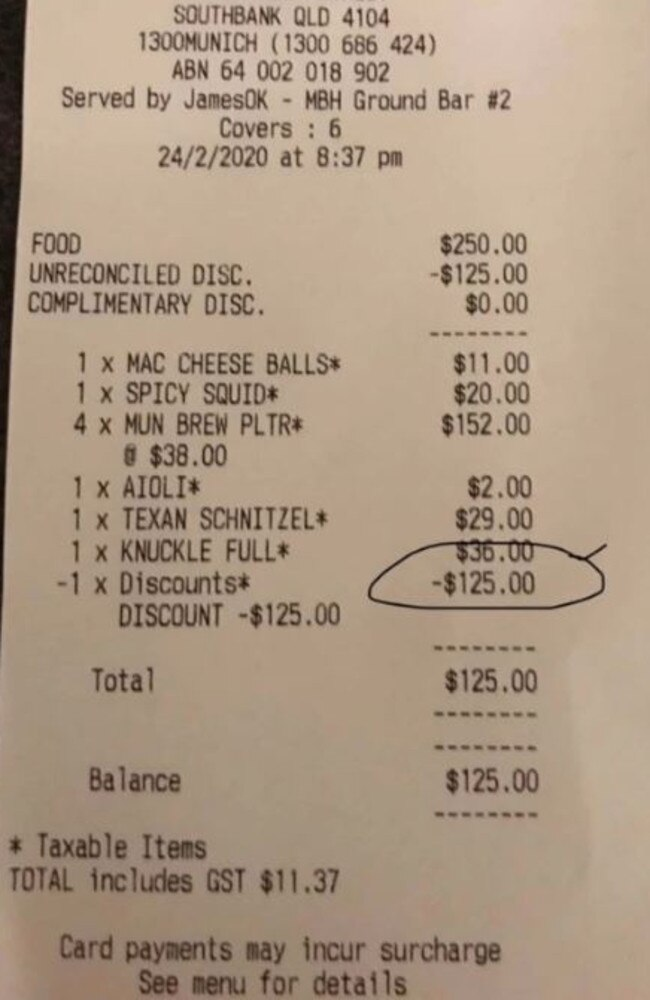 A mum has revealed what she did to slash 50 per cent off her dining bill. Picture: Facebook/MumsWhoBudget&Save
