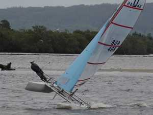 Thrilling action on Richmond River in memory of young sailor