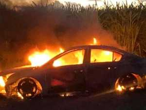 Burning car linked to violent assault and robbery