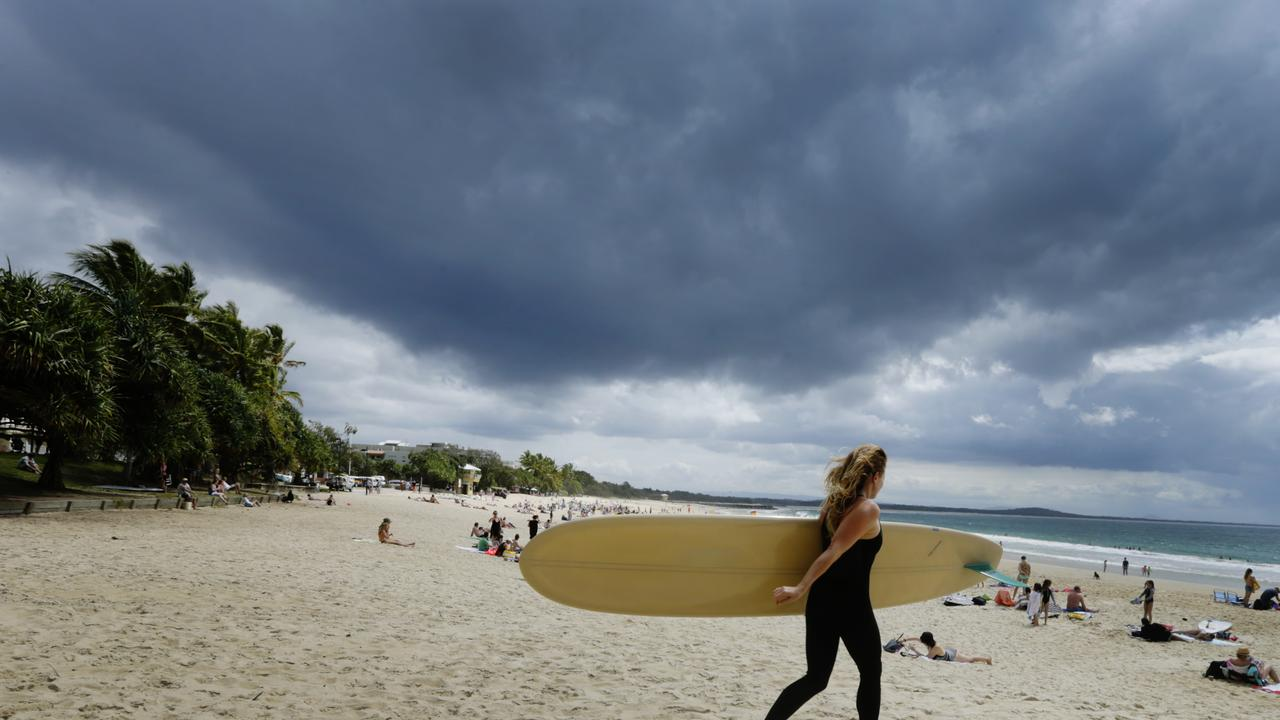The weather this afternoon could turn severe over Noosa. Photo Lachie Millard