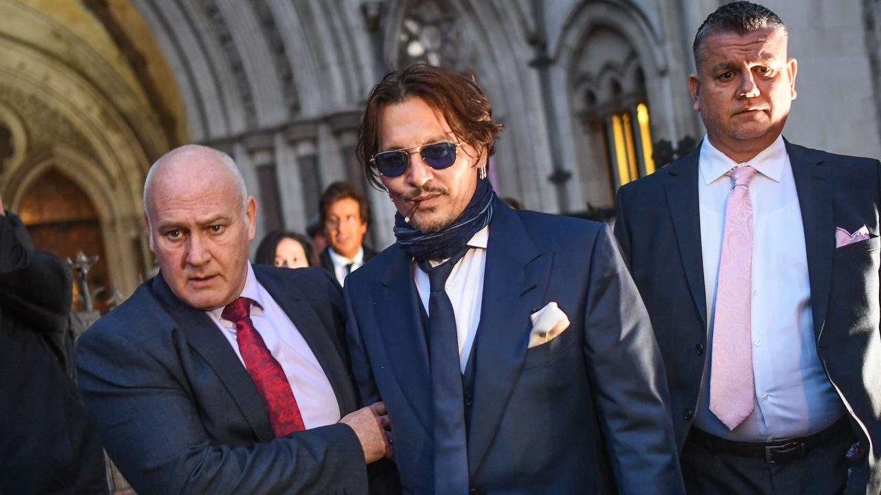 Johnny Depp is seen leaving the Royal Courts of Justice on February 26, 2020 in London. Picture: Peter Summers/Getty Images