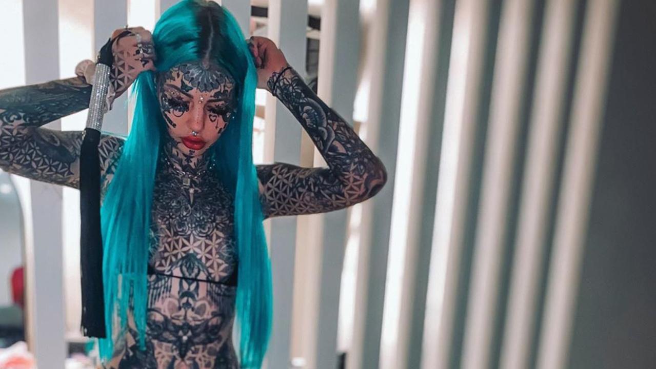 Australian model Amber Luke reveals she has so far spent a staggering $55k on tattoos modifying her body - but is she finally done?