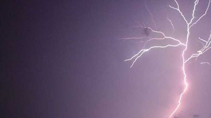Woman struck by lightning in shower