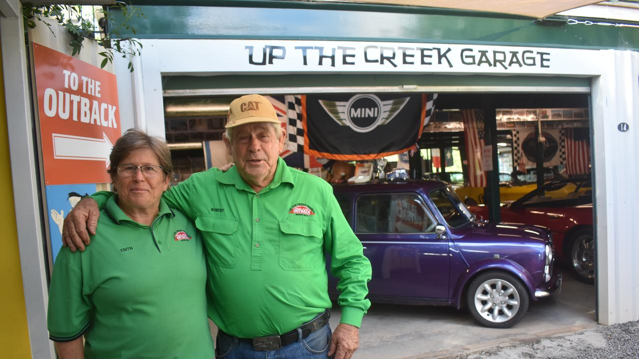 Edith and Robert Burton of Up the Creek Garage.