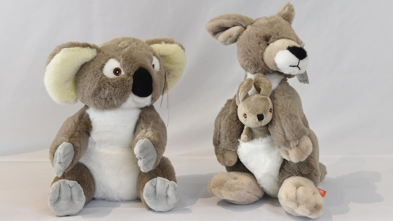 Ecokins plush toys. Picture: Tony Gough