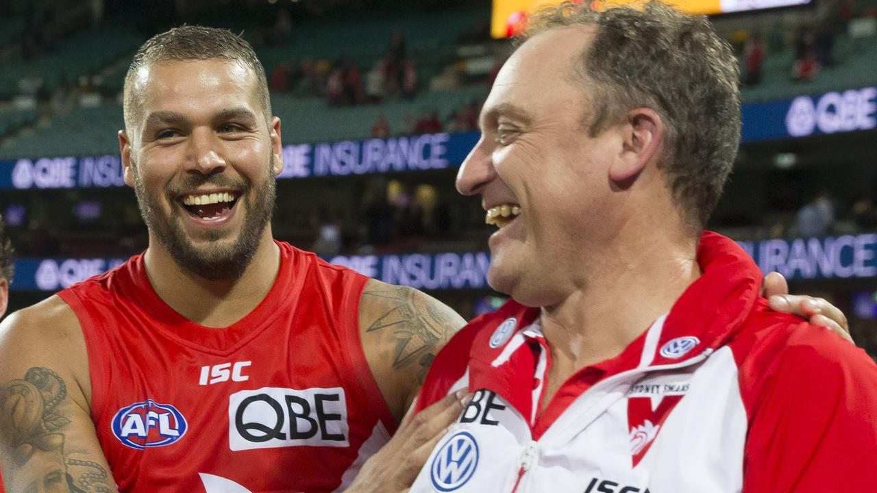 Longmire has overseen the best years of Lance Franklin's career. Picture: AAP