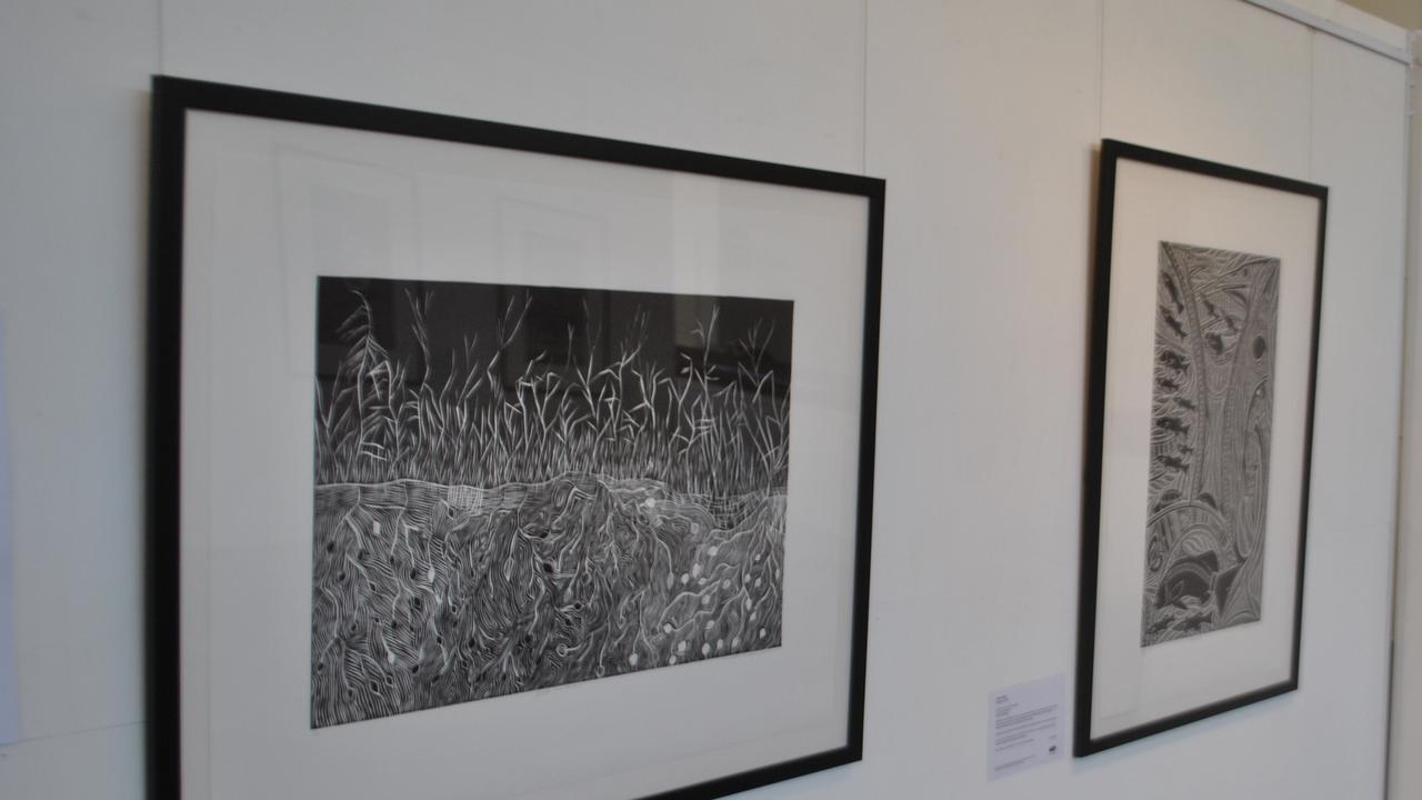 Ngapa Kai Kai on display at the Mitchell on Maranoa Gallery. Photo Richard Coombs