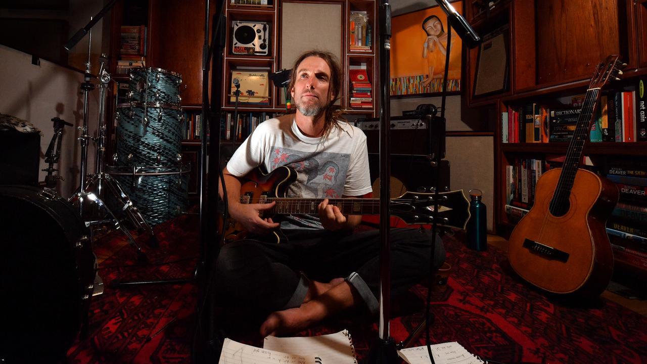 Paulie Bromley at work in his Kiels Mountain recording studio. Photo: John McCutcheon