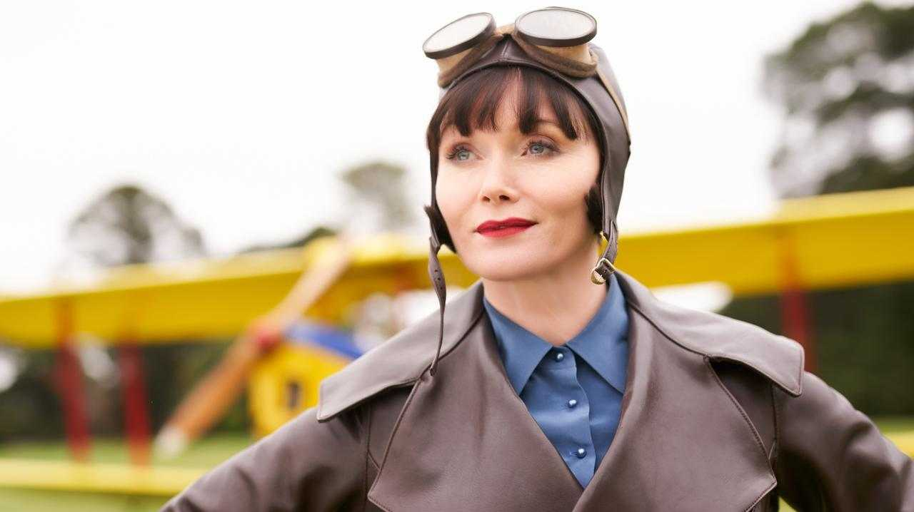 ON THE CASE: Essie Davis in a scene from Miss Fisher and the Crypt of Tears.