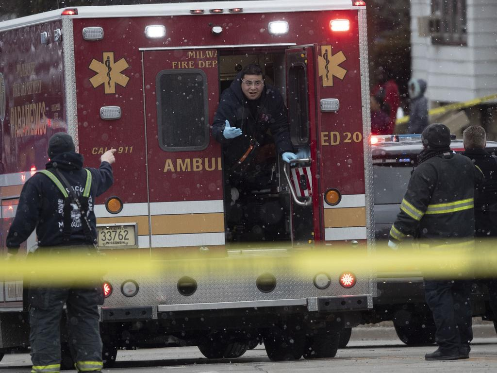 Authorities respond to an active shooting at the Molson Coors Brewing campus in Milwaukee. Picture: AP